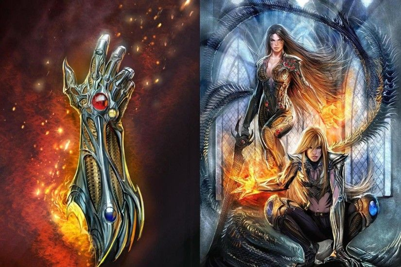 fi, magic,witchblade,hd abstract wallpapers, mobile, sci, fantasy, humor  background images, fire, art, women comics, free images Wallpaper HD