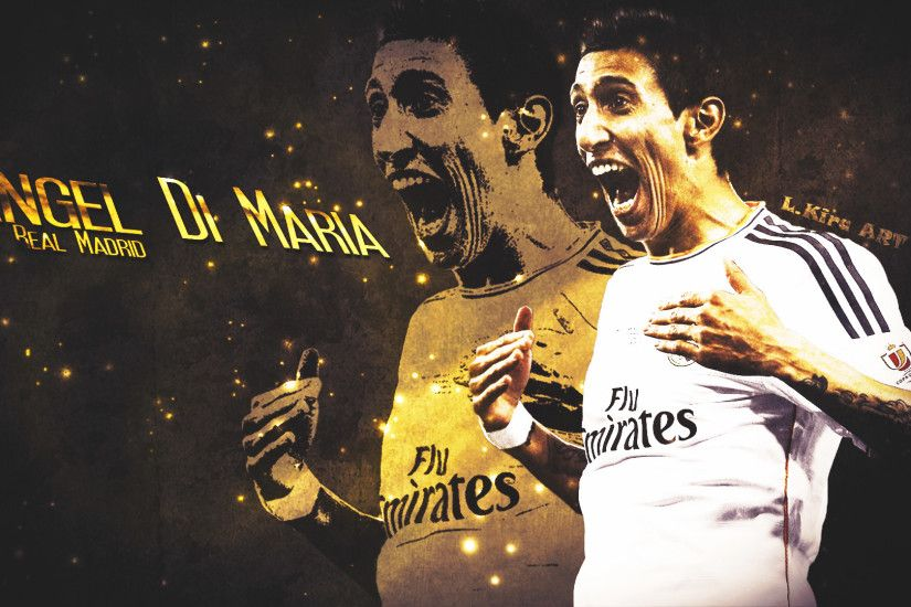 ... Angel Di Maria - Impetus | 2014 Wallpaper by eL-Kira