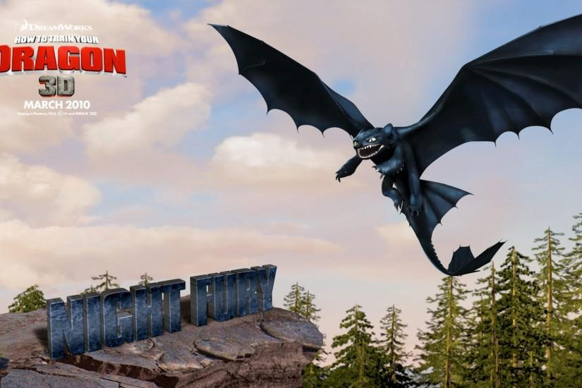 Preview wallpaper how to train your dragon, toothless, flight 1920x1080