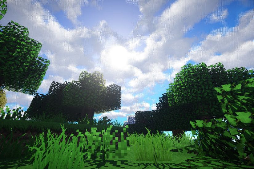 Video Game - Minecraft Mojang Video Game Forest Grass Sky Wallpaper