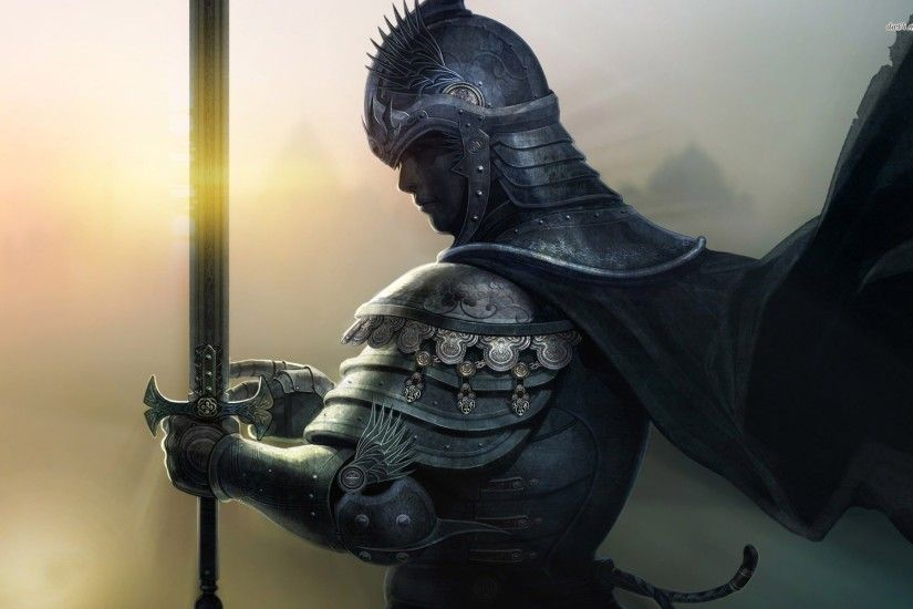 Medieval knight wallpaper - Fantasy wallpapers - #8147