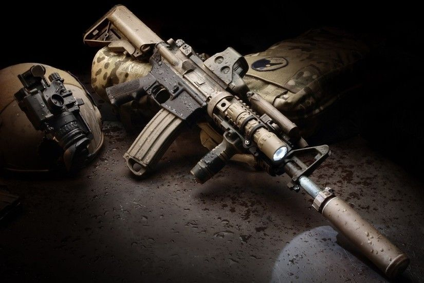 AR 15 Eotech Foregrip LaRue Tactical Magpul Rifles Silencer Suppressor  Surefire LED WeaponLight Water Drops Weapons