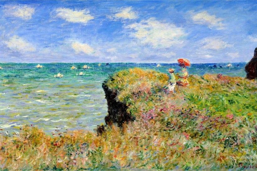Claude Monet Impressionist Painting Wallpaper