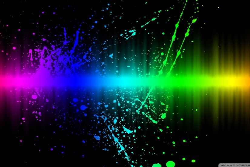 Colorful paint splatter on white background Stock Photo 1920×1080