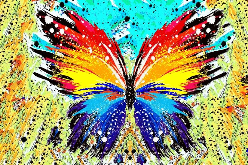 abstract, Paint Splatter, Butterfly Wallpapers HD / Desktop and Mobile  Backgrounds