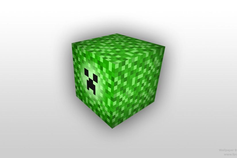 ... Minecraft creeper Block, desktop wallpaper by fpsxgames