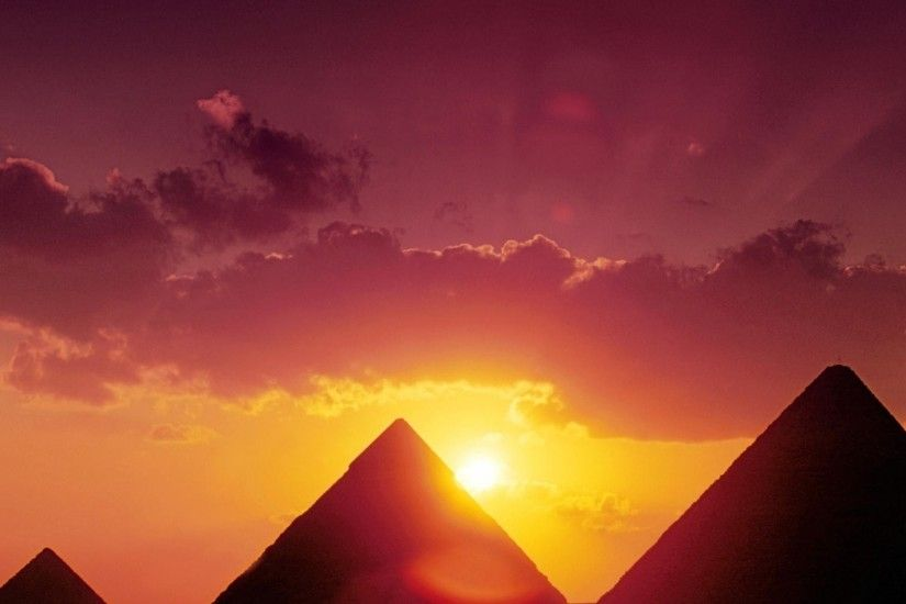 2560x1440 Great Pyramids Of Giza Sunset