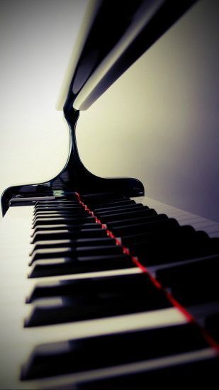Stylish Piano Keys Black and White Blurred