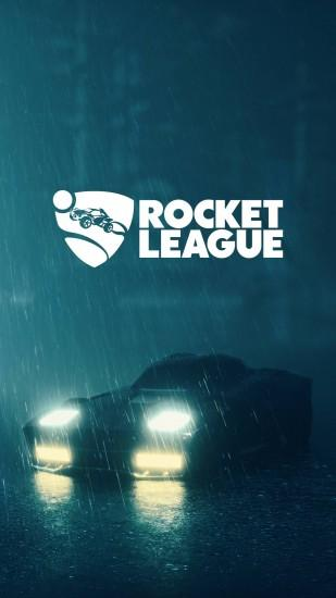 Here is the wallpaper with Rocket League logotype