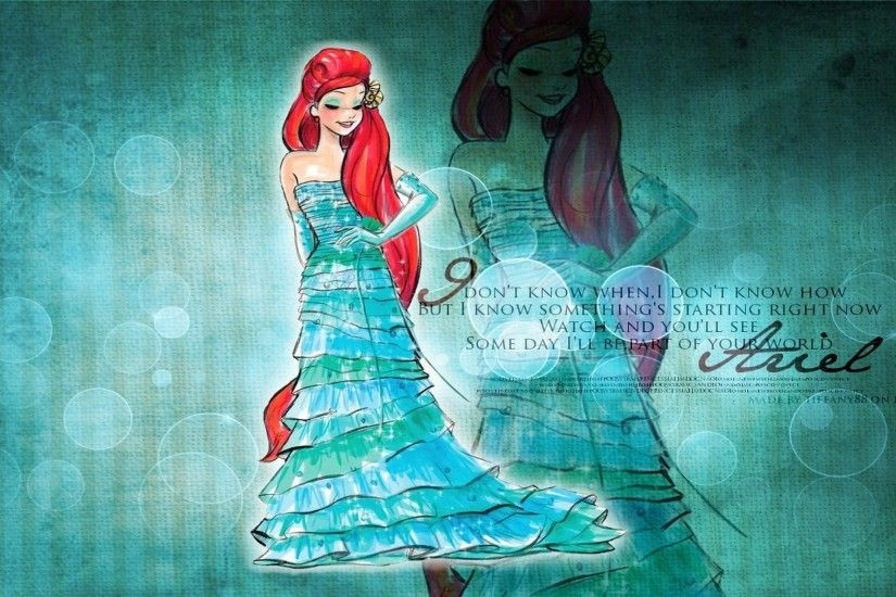 Walt Disney Princess Ariel HD Wallpaper of Cartoon - hdwallpaper2013 .