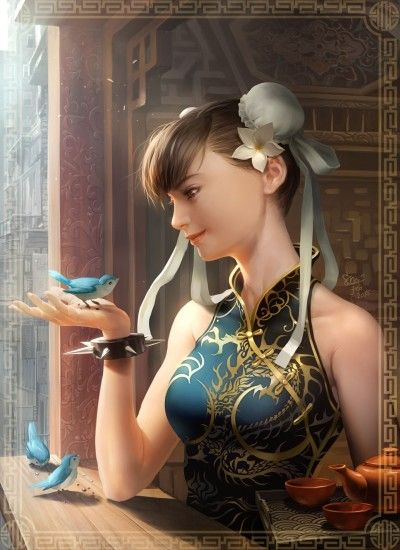 Character chun-li street fight game girl bird realistic wallpaper |  1440x1980 | 709880 | WallpaperUP