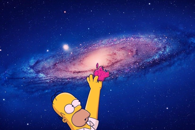 Homer Simpson Apple Mac Os X Wallpaper For 2560 X 1440 Hdtv ..