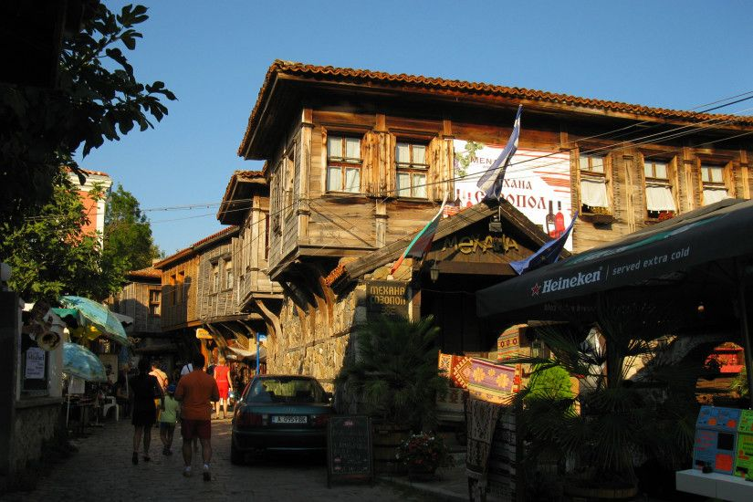 wooden houses in bulgaria