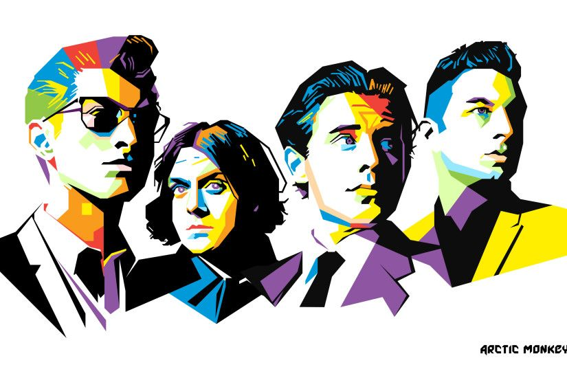 Cool Artwork Wallpaper Of The Band Members From Arctic Monkeys