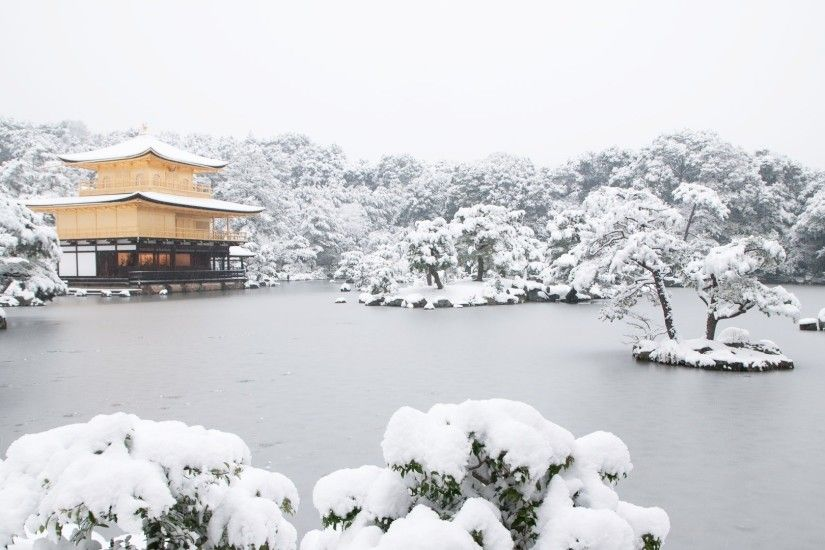 Japan, Temple, Lake, Snow Wallpapers HD / Desktop and Mobile Backgrounds