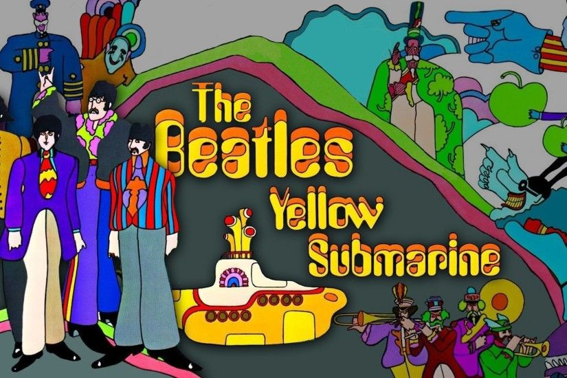 The Beatles Border Yellow Submarine Wallpaper by felipemuve.