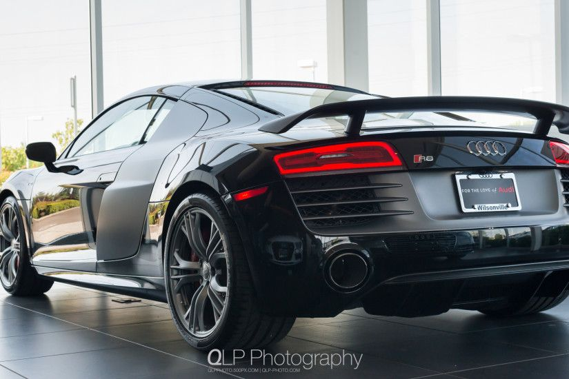 Photo by QLP Photography Mythos Black Audi R8 competition Desktop Wallpaper.  Photo by QLP Photography