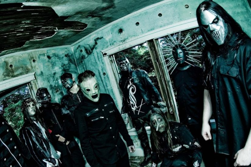 2560x1080 Wallpaper slipknot, band, members, masks, room