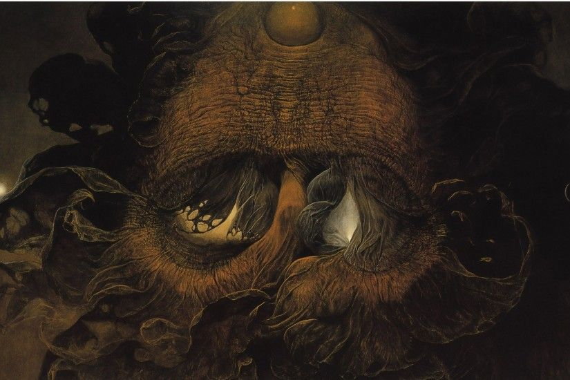 dark artwork zdzislaw beksinski 1779x1442 wallpaper Art HD Wallpaper