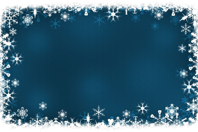 Blue Frame Holiday Ppt Background #1043