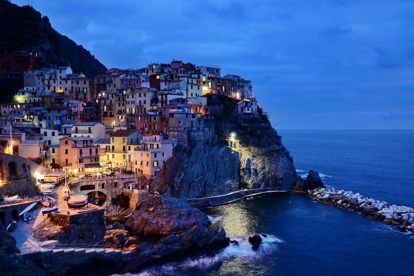 4K HD Wallpaper: Cinque Terre on the Italian Riviera