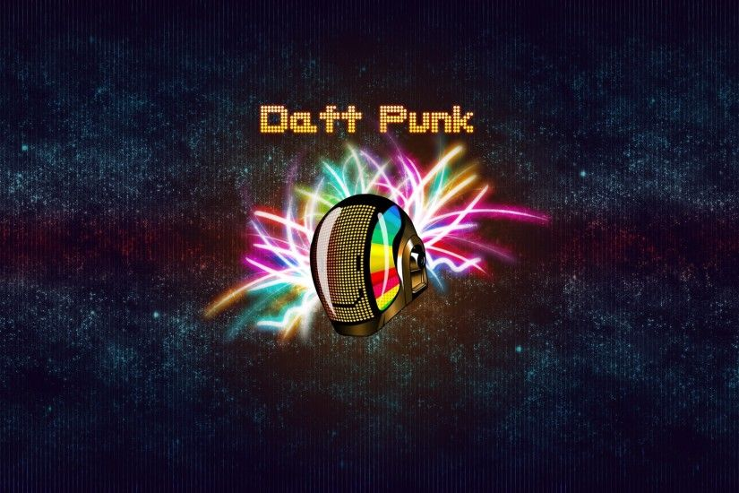 Preview wallpaper daft punk, helmet, background, rays, smile 1920x1080