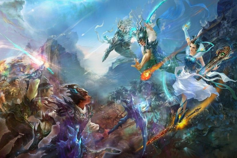 jade dynasty perfect world mmorpg china game wallpapers fantasy warriors  battle china battle music girl beauty