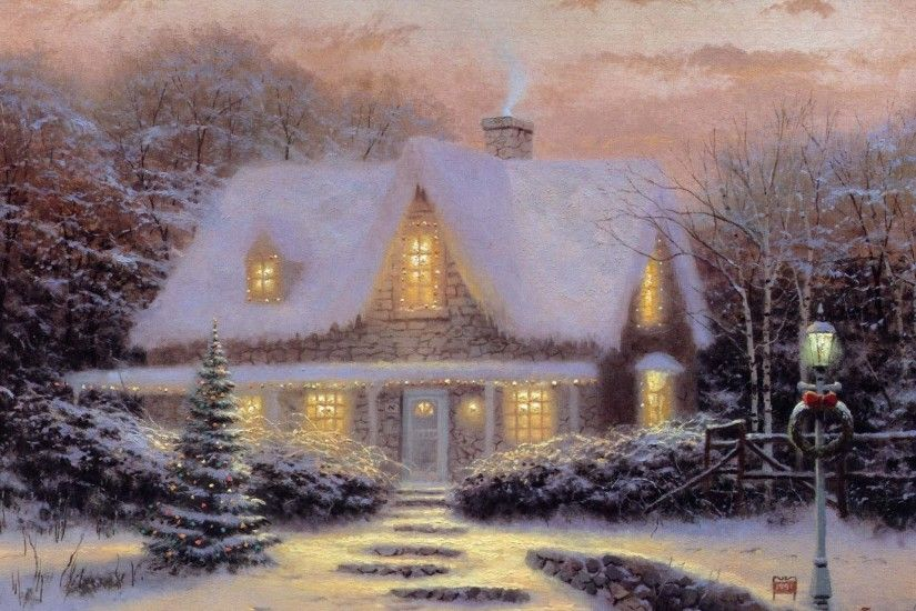 thomas kinkade christmas cottage christmas eve christmas kincaid .