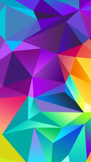 Wallpapers - Red Abstract Polygons (Black BG) (RE) by kaminohunter