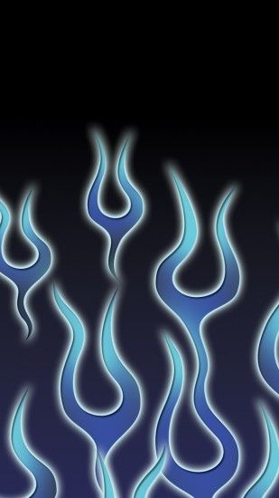 Download the Android Blue tribal flames wallpaper
