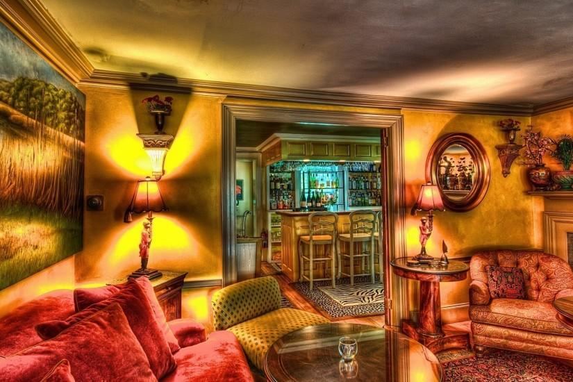 Beautiful Bar Lounge Hdr HD Desktop Background wallpaper free