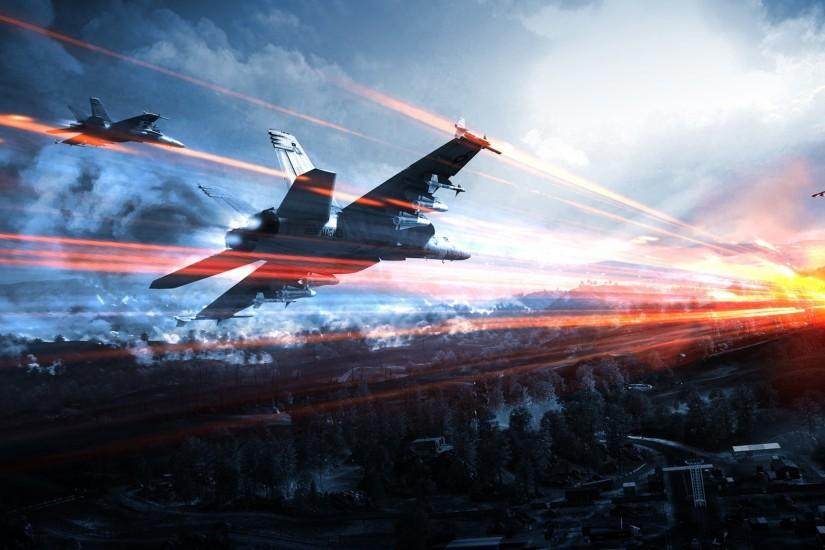2560x1600 Wallpaper battlefield, airplanes, sky, clouds, light