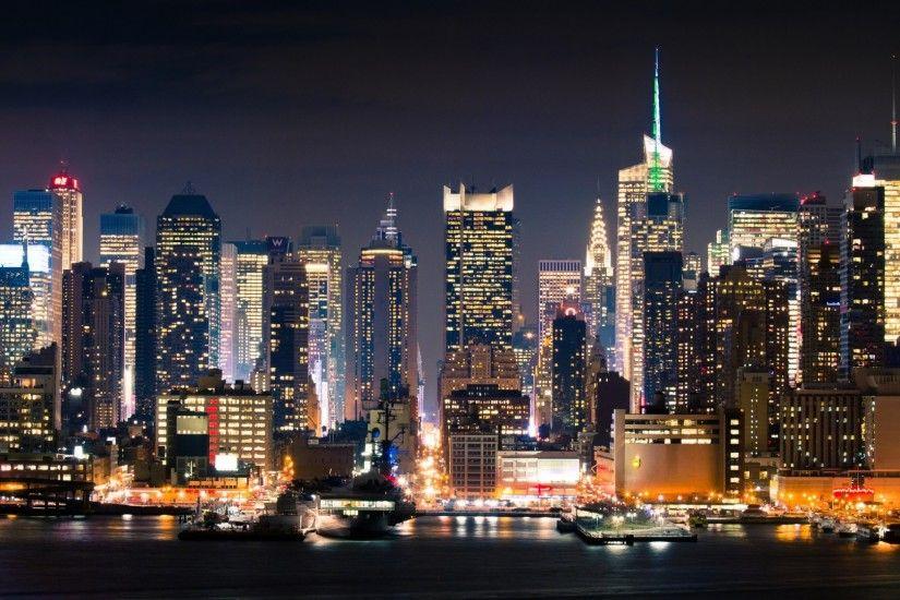 1920x1080 Wallpaper City New York Manhattan Night