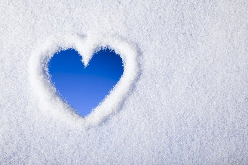 Snow Heart Background