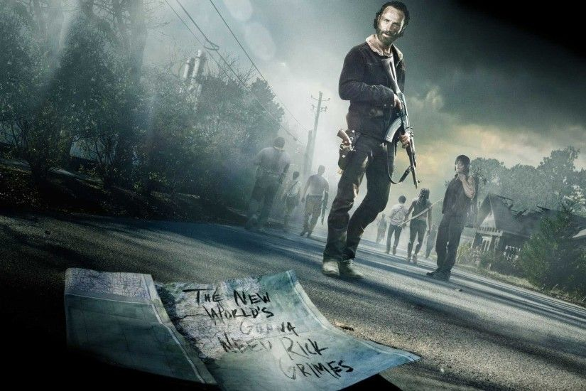 Rick Grimes leads his group through undead hell