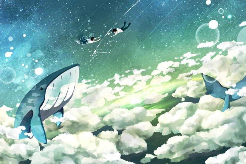 Flying whale wallpaper - photo#17