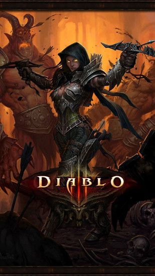 Diablo 3 demon hunter Games Galaxy S5 wallpaper