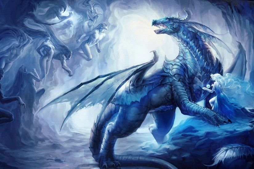 Ice Dragon Widescreen Background Wallpaper » Pocketyguys.