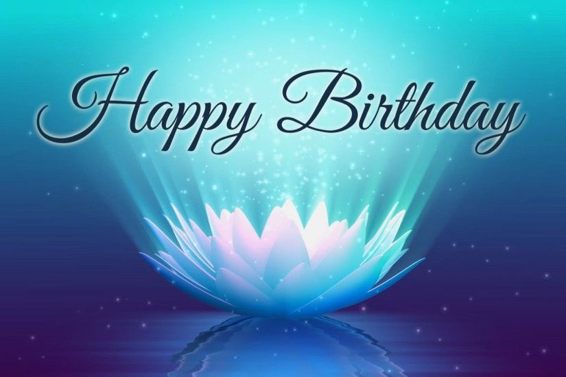 Happy Birthday - Lotus Video Animation - Motion Graphics Background -  YouTube