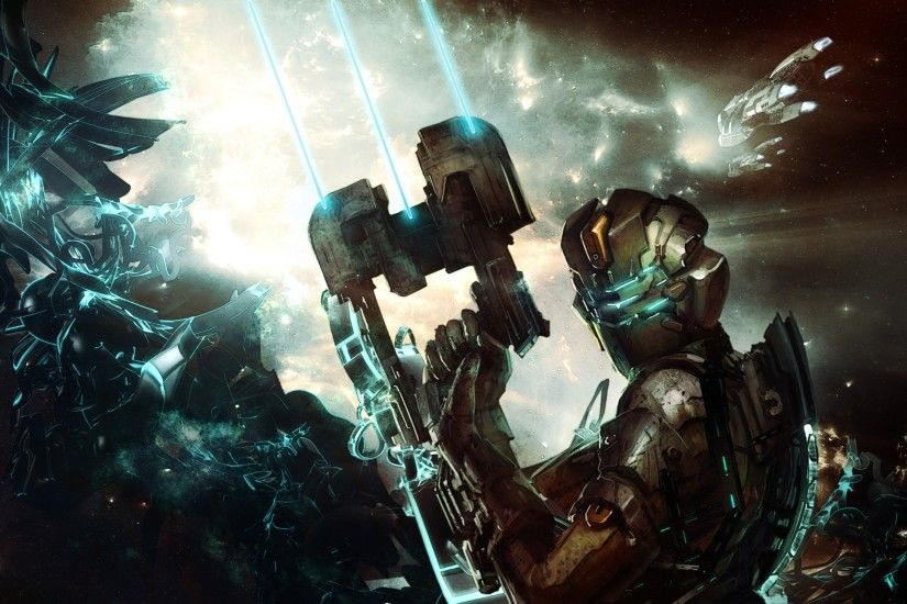 2560x1440 Wallpaper dead space, isaac clarke, game, costume, cutter, space,