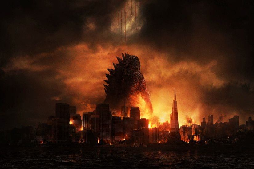 godzilla 2014 movie hd city destruction