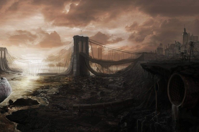Download Cityscapes Post apocalyptic Wallpaper 2560x1600 .
