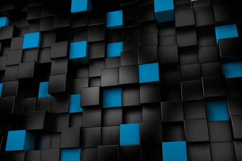 3d · Black And Blue Wallpaper ...