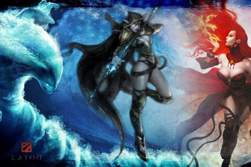 Dota 2, Lina, Drow Ranger, Morphling Wallpapers HD / Desktop and Mobile  Backgrounds
