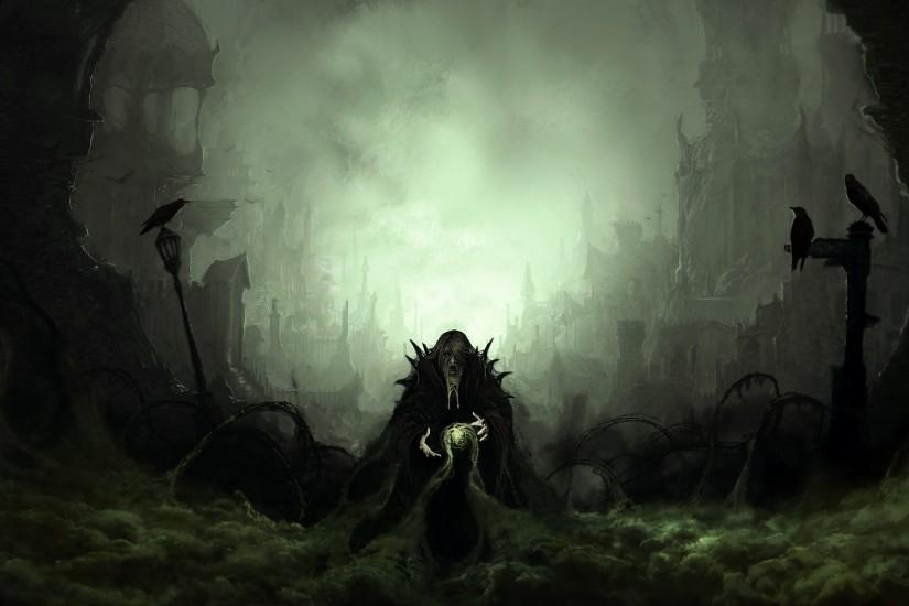 Dark Toxic Wizard wallpaper from Fantasy wallpapers