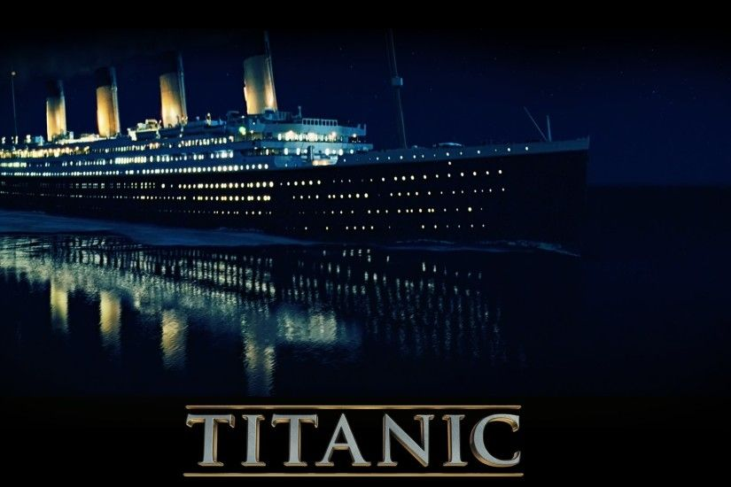 Preview wallpaper titanic, ship, water, night 1920x1080