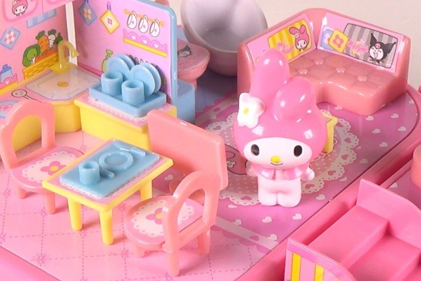 My Melody My Home Playset - Sanrio Mini Dollhouse - Toy Unboxing and Play -  YouTube