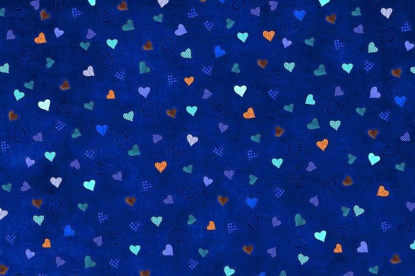 1920x1200 Blue Hearts Background
