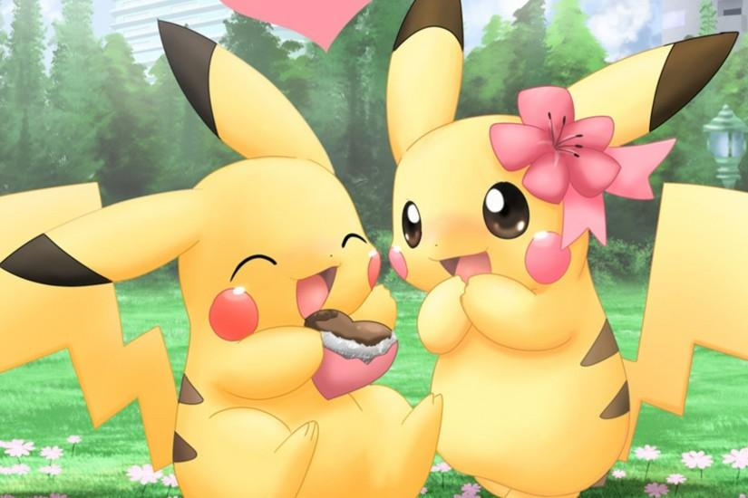 Pikachu Pokemon Cute Couples HD Wallpaper of Cartoon - hdwallpaper2013 .
