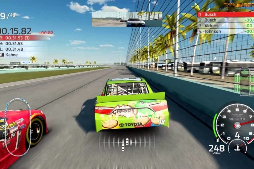 Nascar'15 Ford EcoBoost 400 - HOMESTEAD-MIAMI SPEEDWAY- Kyle Busch Gameplay  - YouTube